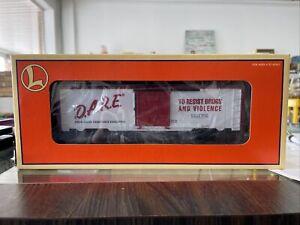 Lionel Train 6-26242 D.A.R.E Boxcar Drug Abuse Resistance Education