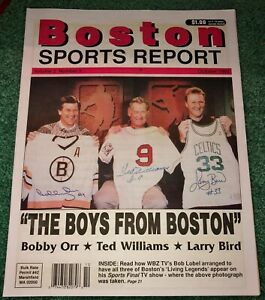 1993 Boston Sports Report The Boys From Boston Larry Bird Bobby Orr Ted Williams