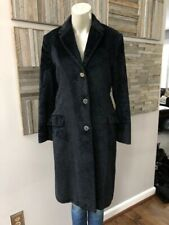 Versace Jeans Couture Single Breasted Textured Black Coat Size XS