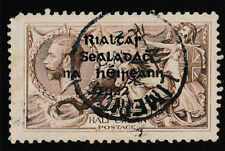 IRELAND, Scott #36: 2/6 Seahorse, Used, 1922 Thom Ovpt in Blue-Black