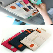 Car Sun Visor Tidy Organiser Cards Tickets Storage Bag Pocket Pouch Phone Holder