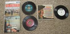 """Frank Sinatra (3) 7"""" LOT *Swingin' Session, Hall of Fame, Sinatra's"""" G+ to VG"""