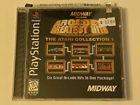 🔥MIDWAY ARCADES GREATEST HITS ATARI 1 - PS1 PlayStation 1 PSX GAME 💯COMPLETE
