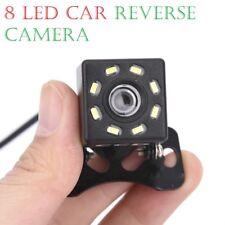 170° Car Rear View Reverse Camera 8 LED Night Vision Backup Waterproof Adjust