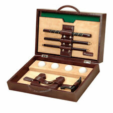 NEW RENZO ROMAGNOLI LEATHER Briefcase GOLF SET GIFT EXECUTIVE MADE IN ITALY