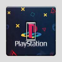 PlayStation Light Switch Vinyl Sticker UK  Man Cave Gaming Decal Bedroom