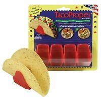 Taco Proper Hard Shell Holders - 4 Shell Stand Pack - Propers Made in the USA