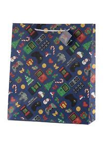 Boys Christmas Gift Bag - Gamers Gift Bag - Large 40 x 35 cm - Xmas Gift Bag