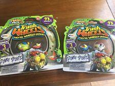 2 X Paquete de basura de la serie 3 Ruedas De Basura - 2 paquete Stinky Deportes-Nuevo Sellado