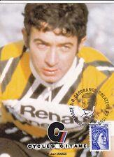 CYCLISME carte cycliste HUBERT ABBES équipe RENAULT cycles GITANE 1980