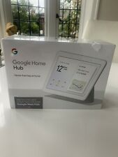 Google Home Hub with Google Assistant,Hands free  Chalk - Brand New & Sealed