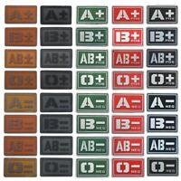ARMY Blood Type Morale Patch Tactical Badges Applique Emblem Rubber Patch Hook &