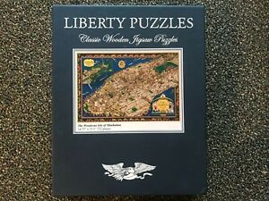 Liberty classic wooden jigsaw puzzles -- Wondrous Isle of Manhattan, 722 pieces