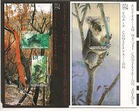 Australia 1994 Koala Conservation Set of 2 Cinderella Sheetlets MNH