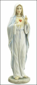 """Sacred Heart of Mary Statue Studio Collection Veronese Resin 8 1/4"""" Religious"""