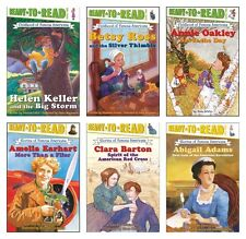 NEW Childhood of Famous Americans Set of 6 Ready to Read Level Two Women History