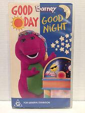 BARNEY ~ GOOD DAY GOOD NIGHT ~ RARE VHS VIDEO