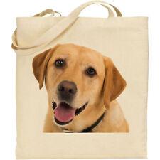 CS Yellow Labrador Retriever dog breed cotton shopping/shoulder/beach/tote bag