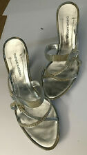 Costume National CNC Designer Leather Lizard Heels Court Shoes size 5 EU 38