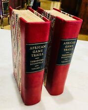 """African Game Trails"" T. Roosevelt SIGNED 1st ed Laid-ins Orig Photos Expedition"