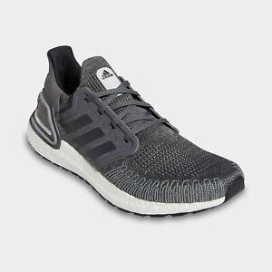 Men's Adidas UltraBoost 20 Running Shoes Grey / White Sz 9 FY9035