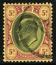 SG 270 TRANSVAAL 1904 - 5s BLACK & PURPLE/YELLOW - USED