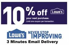 One 1x Lowes 10% OFF3Coupons- Fastest Delivery  12/31/18 sb