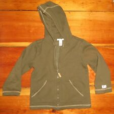JANIE and JACK olive green fleece hoodie sweatshirt  / light jacket size 6