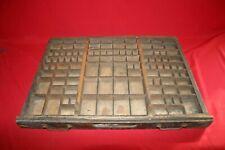ALTER SETZKASTEN 70x53cm BAUHAUS SCHUBLADE DRUCKEREI 11 Lettern Seed Box