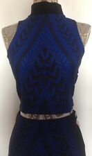 Forever Unique MURPHY - Geometric Black & Blue Printed Co-ord Set Size 6