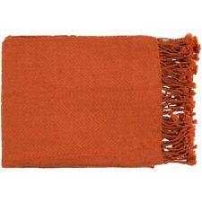 Turner by Surya Throw Blanket, Burnt Orange - TUR8403-5060