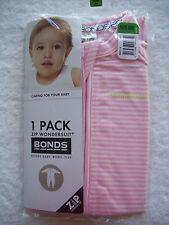 Bonds Baby Wondersuits Size 000 2 Way Zip Blushing Candy Stripe