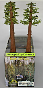 """GRAND CENTRAL GEMS  2 10"""" - 11"""" REDWOODS 295-T43 FOR G OR O SCALE TRAIN SCENERY"""