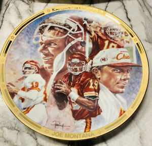 """rare 1995 Collection plate Joe Montana """"Chief On The Field"""" #0027A Paper Work"""