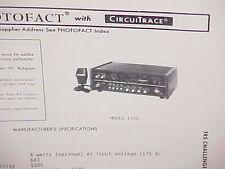 1979 TRS CHALLENGER CB RADIO SERVICE SHOP MANUAL MODEL 1200