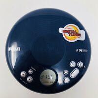 RCA RP2710 Blue Portable CD Player w/FM Radio Digital Tuner Tested/Works