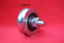 50mm Steel U Groove slide gate pulley wheels suit for tube, bar, rope
