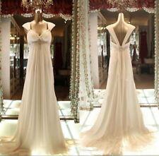 High Waist Maternity Wedding Dress Plus Size Boho Beach Wedding Bridal Gown