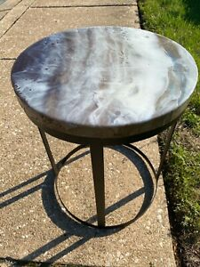 Smoke on the Water Table And Stool 2 In 1 ( Use As Table And For Sitting)