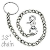 Fossil Genuine Leather Key Chain Ring with Hanging Jeans Loop Claw Hooks