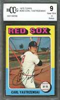 1975 topps #280 CARL YASTRZEMSKI boston red sox BGS BCCG 9