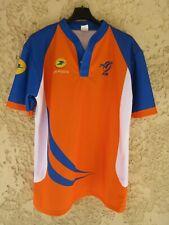 Maillot rugby arbitre orange FFR LA POSTE collection shirt referee XXL / 7