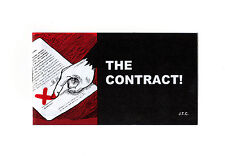 THE CONTRACT Jack Chick Christian Bible Gospel JESUS Mini 5 x 2.75 Tract