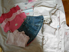 KITCHOUN/TEX/DO l'ENFANT lot 8 pièces manteau+bodys+jupe+pull+t;shirt 3 mois=kdo