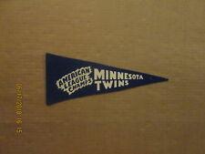 MLB Minnesota Twins Vintage 1965 AL Champs Blue Mini Logo Baseball Pennant
