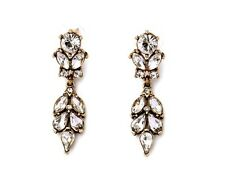 E930 Betsey Johnson Vintage Downton Abbey Wedding Dress Bridal Drop Earrings  UK