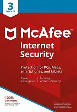 Dispositivo McAfee Internet Security 2018 3/1 Años Antivirus