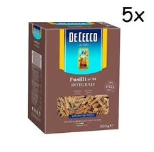 5x Pasta De Cecco Fusilli integrali n. 34 Vollkorn italienisch Nudeln 500 g
