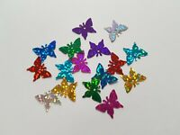 50 x Holographic Craft Sequins - Butterfly - 17mm [Various Colours]