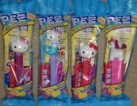 LOT OF 4 HELLO KITTY sanrio Pez Dispenser New Release 2021 Mermaid Unicorn Candy